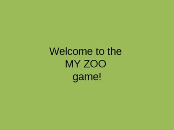 My Zoo Animals PowerPoint Game