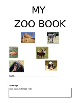 My Zoo Animals Student Booklet Pages