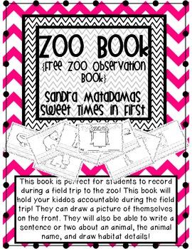 My Zoo Book FREEBIE