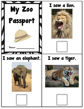 My Zoo Passport (Common Core Aligned)