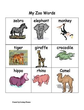 My Zoo Words