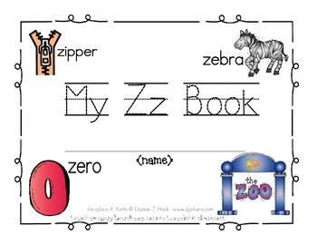 My Zz Book {letter study & sight word there}