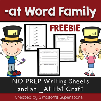 -At Word Family FREEBIE: My -At Hat