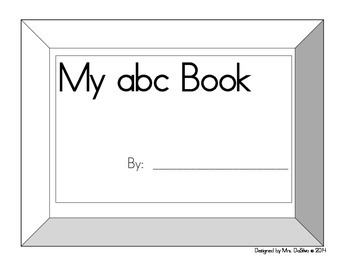 My abc (lowercase letters) Book