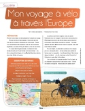 French text + activities + teacher's guide: Mon voyage à v