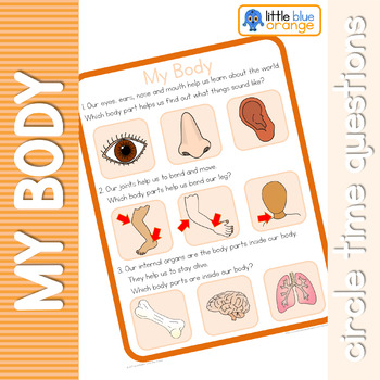My body circle time questions