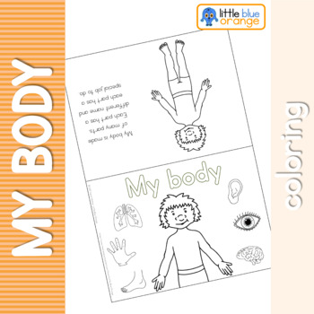 My body coloring booklet