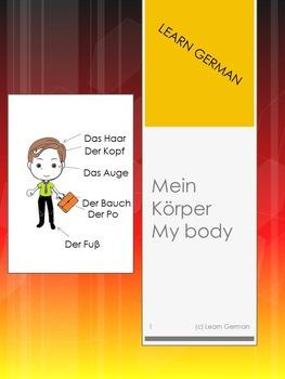 My body - mein Koerper: Lerne Koerperteile auf Deutsch