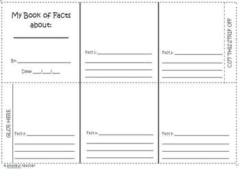 My book of facts foldable - blank template