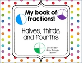 My book of fractions {a mini-booklet} CC.2.G.A.3