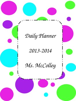 My custom planner for therapy