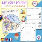 My daily routine- Mi rutina diaria- Español, English, Français