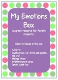 My emotions box- autistic resource