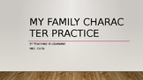 My family Character writing animation and family book