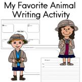 My favorite animal writing activity