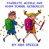 My favorite resources for middle school and high school students