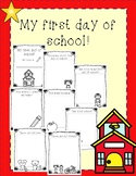 My first day of school activites