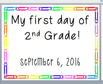 My first day of school sign (editable!)