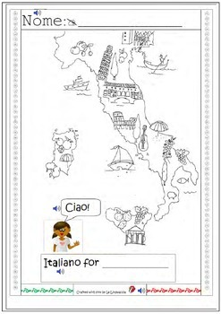 My first geography lesson in Italian