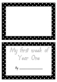 My first week/day of Year 1 flip book