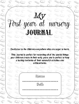 My first year at nursery journal