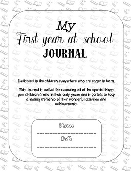 My first year at school journal