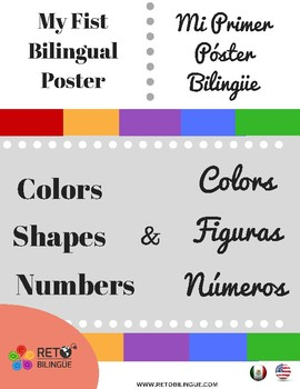 My fist bilingual Poster - BUNDLE- Colors, Shapes, Numbers- English-Spanish