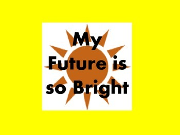 My future is so bright gift tag and writing