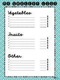 My grocery list