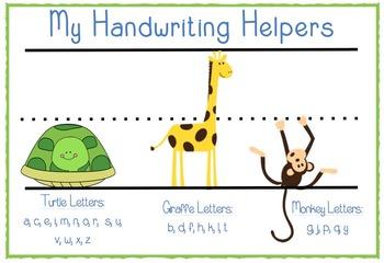 My handwriting helpers