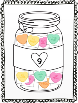 My heart is filled with candy, counting from 0-10 (Preschool)