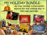 My holiday conversation bundle - ESL, ELL, EFL adult conversation