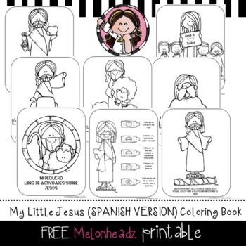 My Little Jesus Coloring Book Freeprintable Lds Melonheadz Clip Art Spanish