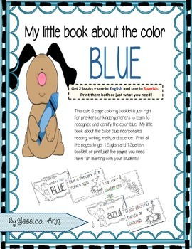 My little book about the color blue Mi librito sobre el color azul