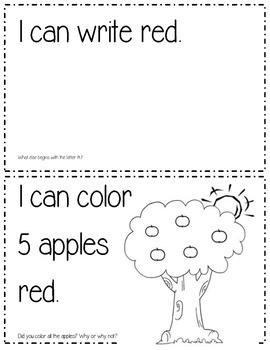 My little book about the color red Mi librito del color rojo