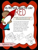 My little book about the color red Mi librito del color rojo