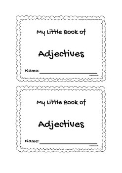 My little book of adjectives
