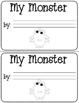 My monster- a mini book descriptive writing activity