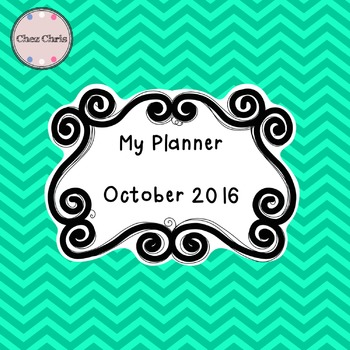 My monthly Planner: October 2016