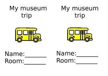 My museum trip activity book