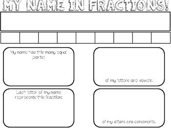 My name in Fractions!