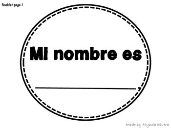 My name is... Craftivity (English & Spanish)