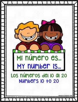 My number is (números del 10 al 20) (Spanish & English teen numbers)