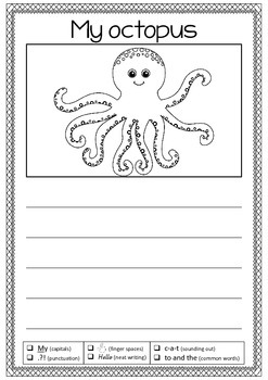 My octopus writing prompt with checklist - Free download -
