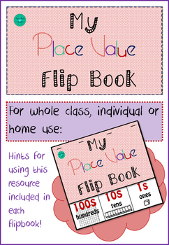 My place Value Flip Book