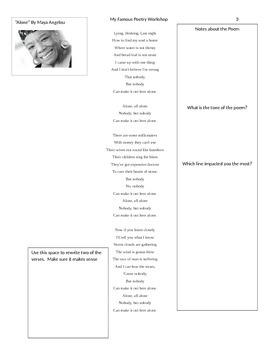 My poetry workshop