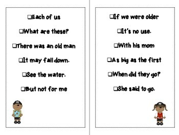 My sight word phrase book