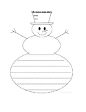 My snow man story template