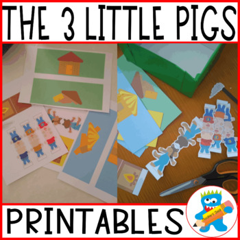 My story box. The 3 pigs. Great Craftivity. Templates to work the story.