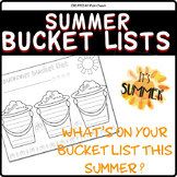 My summer BUCKET LIST - End of the year - Writing